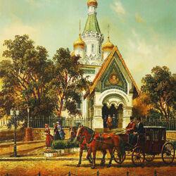 Пазл онлайн: Русская церковь в Софии