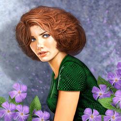 Пазл онлайн: Лиловые цветы