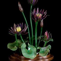 Пазл онлайн: Стеклянные цветы