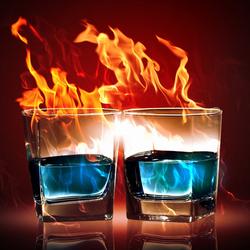 Пазл онлайн: Огонь и лед