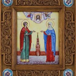 Пазл онлайн: Икона Максима Матвеева и Елизаветы Боярской, семейная икона