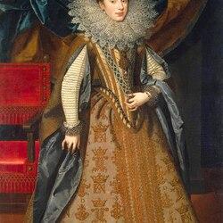 Пазл онлайн: Портрет Маргариты Савойской, герцогини Мантуи