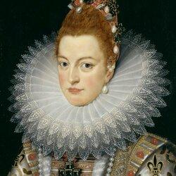 Пазл онлайн: Портрет Изабеллы Клары Евгении испанской, эрцгерцогини Австрии