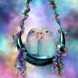 Пазл онлайн: Лунные качели
