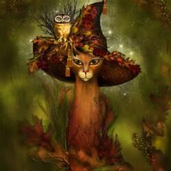 Пазл онлайн: Шляпа ведьмы