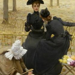 Пазл онлайн: Беседа в Люксембургском саду