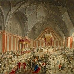 Пазл онлайн: Коронация императора Фердинанда I. Обед в Пражском замке