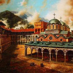Пазл онлайн: Рильский монастырь в Болгарии