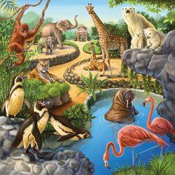 Пазл онлайн: Зоопарк