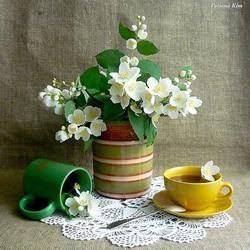 Пазл онлайн: Чай с жасмином