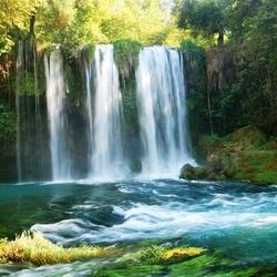 Пазл онлайн: Водопад Дюден Верхний. Анталия