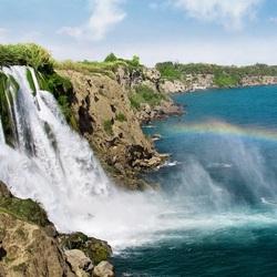Пазл онлайн: Водопад Дюден нижний. Анталия