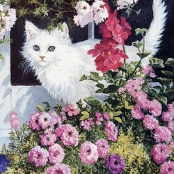 Пазл онлайн: Красавица в цветах