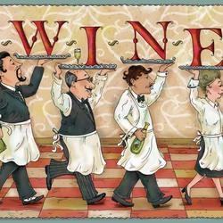 Пазл онлайн: Пить вино!