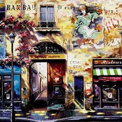 Пазл онлайн: Улочки Парижа