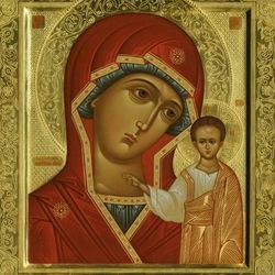 Пазл онлайн: Чудотворная икона Божьей Матери
