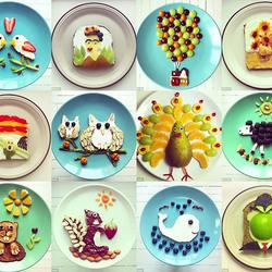 Пазл онлайн: Арт-завтрак