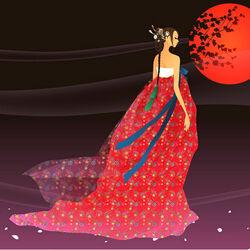 Пазл онлайн: Красная луна
