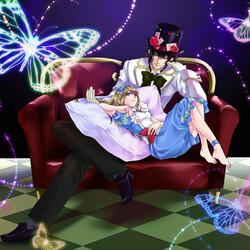 Пазл онлайн: Алиса в Стране Сердец