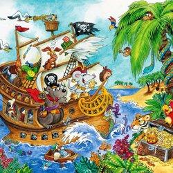 Пазл онлайн: Остров сокровищ