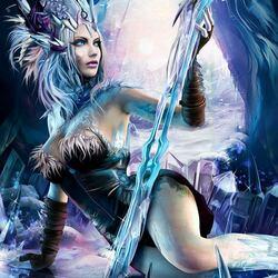 Пазл онлайн: Frost Blade Lusha  \ Морозное лезвие Луши