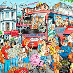 Пазл онлайн: Путешествие на автобусе