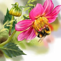 Пазл онлайн: Пчелка