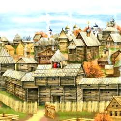 Пазл онлайн: Древне-русский городок