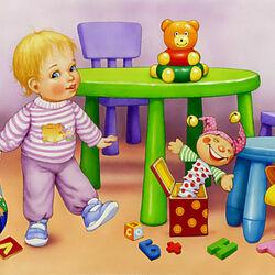 Пазл онлайн: Мои игрушки
