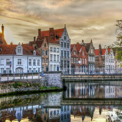 Пазл онлайн: Брюгге. Бельгия