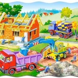 Пазл онлайн: Строим дом