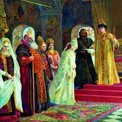 Пазл онлайн: Выбор невесты царем Алексеем Михайловичем