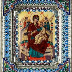 Пазл онлайн: Икона Божья Матерь Всецарица