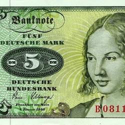 Пазл онлайн: Пять немецких марок