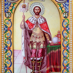 Пазл онлайн: Икона Святой Благоверный князь Александр Невский