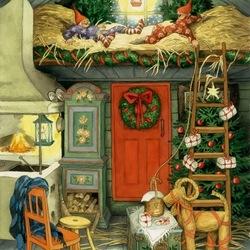 Пазл онлайн: Хорошо встречают Рождество