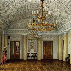Пазл онлайн: Интерьеры залов Эрмитажа