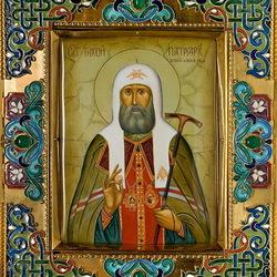 Пазл онлайн: Икона Патриарх Тихон