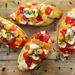 Пазл онлайн: Горячие бутерброды