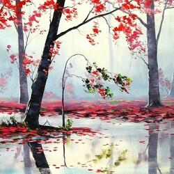 Пазл онлайн: Красный листопад