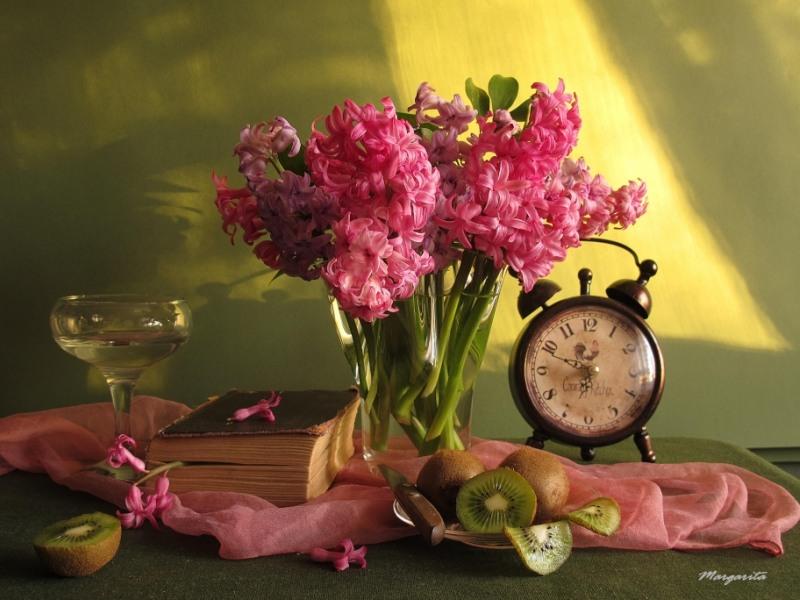 Часы с цветами фото