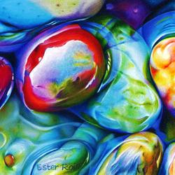 Пазл онлайн: Цветные камушки