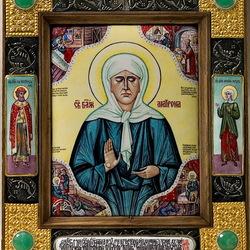 Пазл онлайн: Икона Святой Матроны Московской