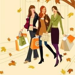 Пазл онлайн: Осенний шоппинг
