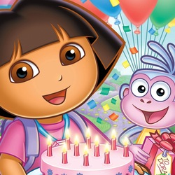 Пазл онлайн: День Рождения Даши Следопыта