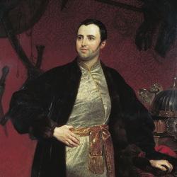Пазл онлайн: Портрет князя М.А.Оболенского