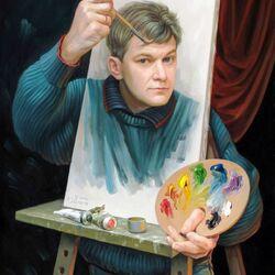 Пазл онлайн: Автопортрет. Картины с двойным смыслом