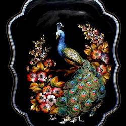 Предлагаю насладиться удивительной красотой жостовской росписи на картинках.