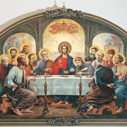 Пазл онлайн: Тайная Вечеря. Патриаршая трапезная храма Христа Спасителя