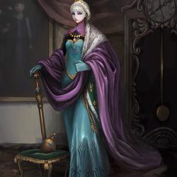 Пазл онлайн: Эльза - королева Эренделла